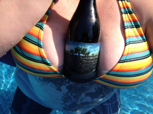 Boobs with Wine